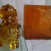 透明水晶玻璃金黄色原料