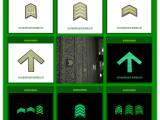 地铁自发光导向标识 南方地铁指定夜光标识  地铁常用发光标识