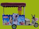 冰淇淋小吃车,质量好,出冰快,一人即可操作!