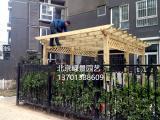 北京防腐木施工首选北京绿景园艺上门设计安装