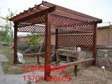 北京绿景园加工北京防腐木葡萄架 花架 围栏 花盆