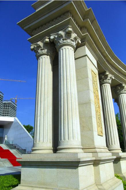 grc欧式罗马柱广泛用于别墅