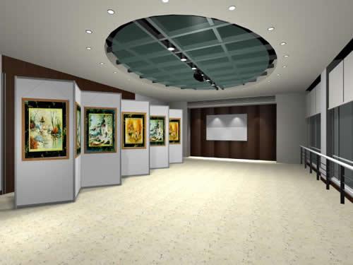 八棱柱展板 展会展览展板 展厅宣传展板图片
