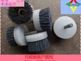 进口金刚砂 碳化硅 氧化铝毛刷 磨料丝 钢丝刷辊厂家定做