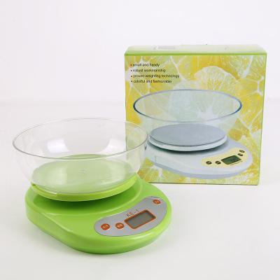 新款 优质电子烘焙厨房秤 创意带碗台称5kg精准克称