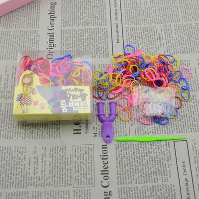 TXL1464 热销韩国彩虹皮筋 DIY编织皮筋 益智手工手链彩虹编织机