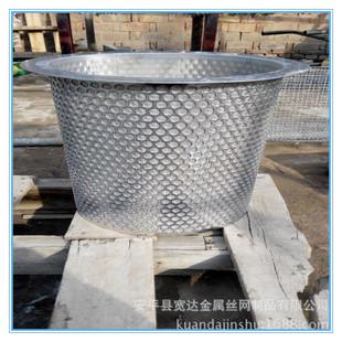 法兰式网眼筒 304不锈钢双层丝网过滤筒 机油污水处理冲孔式滤筒