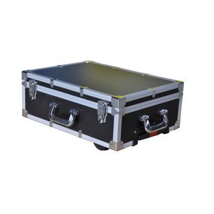 活动直销仪器设备工具箱 铝工具箱 黑色防火板自带滚轮工具箱