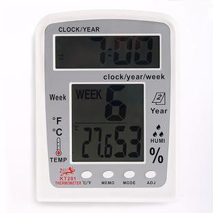 新款大屏目温湿度计家用温度计带万年历KT201