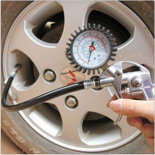 多功能汽车用轮胎压力表胎压枪充气枪轮胎带枪气压表打气测胎压计