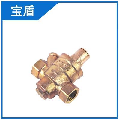玉环宝盾阀门供应黄铜减压力低压带表减压阀/