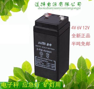 电子秤4v小电瓶电子称可充电免维护铅酸蓄电池道特4V4AH电池