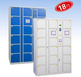 硕芯条形码寄存柜智能电子存物柜18门指纹存包柜指纹寄包柜