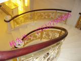 酒店定制铝艺楼梯护栏 旋转k金铝板雕刻艺术护栏