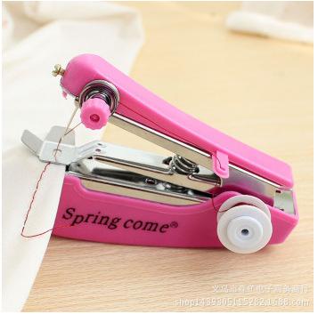 家用手动SPRING COME袖珍手动小缝纫机 便携式迷你缝纫机