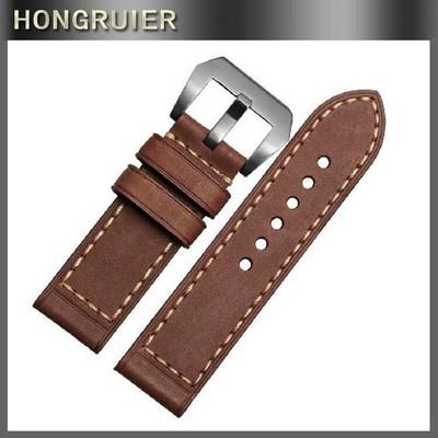 22mm小牛皮表带 疯马油皮钟表配件 通用真皮表带