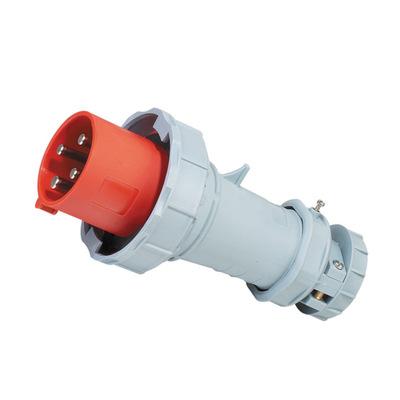 63A 4P IP67工业防水欧标插头 防断电漏电工业大电源专用插头