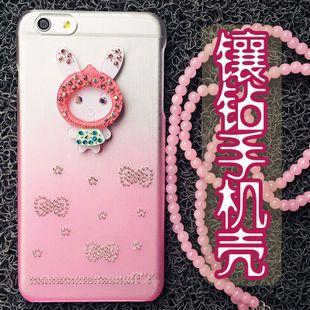 iphone6手机壳 苹果6手机套Iphone6plus水钻手机保护套超薄外壳