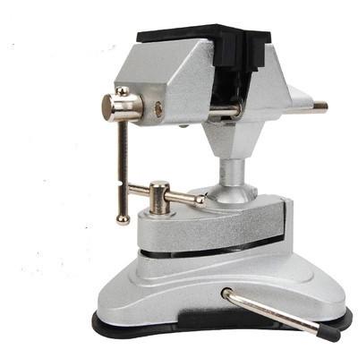 铝合金吸盘式 万向台钳迷你桌虎钳DIY平口钳夹具