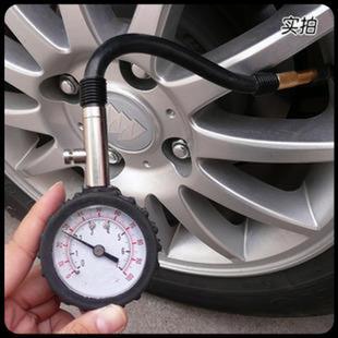 高精密汽车胎压计 车用数显胎压表 监测不锈钢轮胎气压表测压表