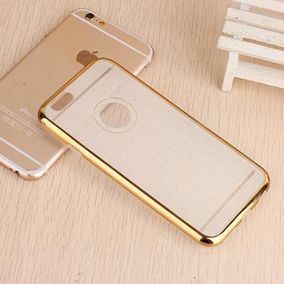 新款电镀边框iPhone6S手机壳闪粉TPU手机保护套 苹果6Plus手机套