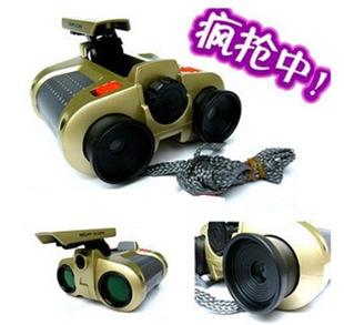 4*30儿童玩具双筒望远镜 带灯夜视仪外贸款