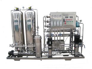 不锈钢二级反渗透水处理机组二级超纯水设备500L大小定制价格优惠