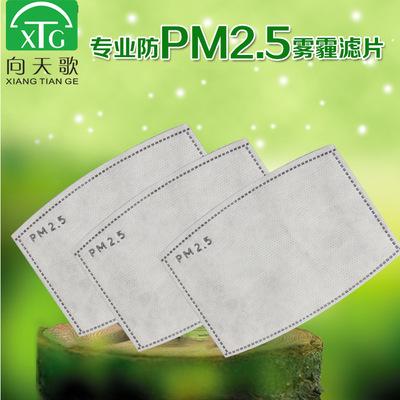 pm2.5口罩滤芯 五层活性碳滤片 防尘防雾霾活性炭滤片 一包2片装