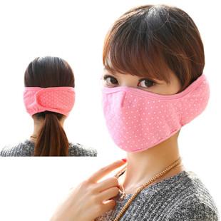 冬天韩国时尚口罩冬季男女防尘保暖护耳罩儿童防护口罩二合一40g