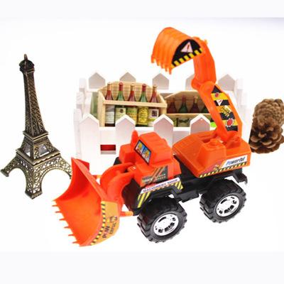 儿童玩具工程车挖机加推土机儿童玩具车批发地摊货源小孩玩具