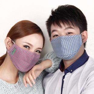 亲子款 防雾霾PM2.5口罩批发 活性炭防护口罩 拉链开口插片口罩