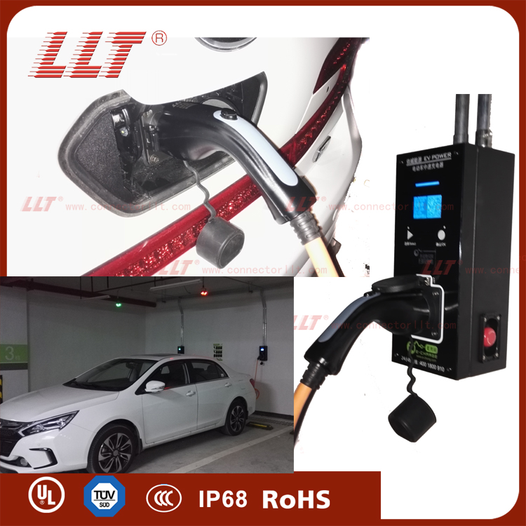 LLT 供应汽车充电枪连接器 汽车充电桩配件 汽车交流充电枪高清图片