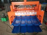 新型竹筒式仿古琉璃瓦压型彩钢瓦压瓦机设备