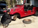 电动观光车维修,贵宾看房车修理价格,四轮电瓶车更换轮胎