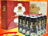 德国进口啤酒 凯撒黑啤/白啤500ml*10听礼盒装