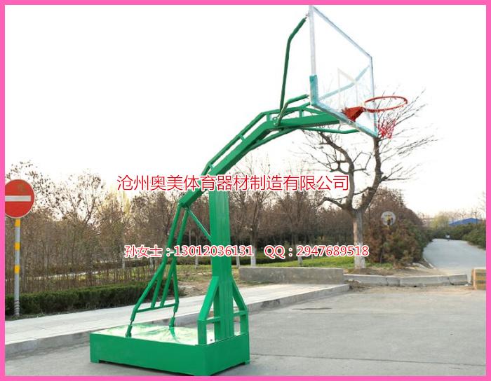固定篮球架,高档篮球架安装图