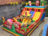 7X12米猪猪侠充气城堡现货促销充气蹦蹦床价格优惠售后无忧