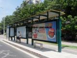 公交站台板/公交站台广告/公交站台灯箱板/深圳美图标识