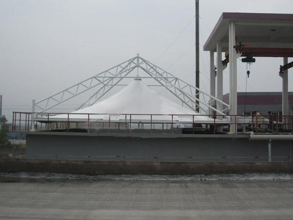 污水处理厂膜结构价格 污水池膜加盖 联系奥宏