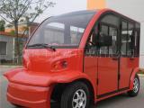 热销4座封闭式电动观光车,景区摆渡车,工厂治安车
