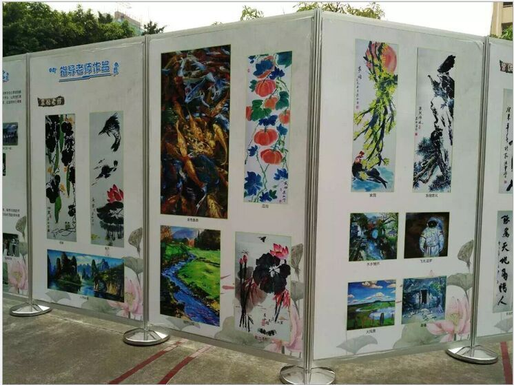 冠禾书画展览标摊 书画作品展板销售 书画展板展架制作图片