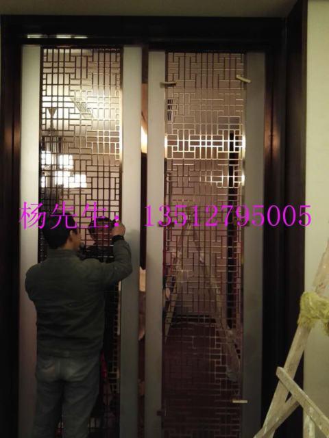 欧式k金铝板镂空雕刻别墅屏风