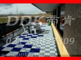 【入户花园地板】绿色环保花园防腐塑化地板/抗冻防晒入户地板
