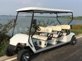 热销无锡6座电动高尔夫球车,房产看房车,景区游览车