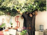仿真榴莲树制作过程 仿真榴莲树价格 大型榴莲树批发