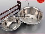 不锈钢狗碗悬挂式单碗宠物两用食具
