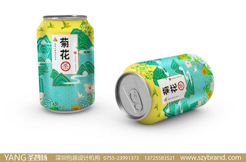 茶饮料包装设计,菊花茶饮品包装设计公司图片