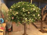 仿真桃树叶图片 仿真桃树厂家定做 大小微型 微景观