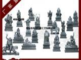 十八罗汉石雕像 花岗岩十八罗汉尊者