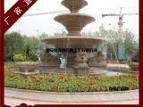 小区景观喷泉雕塑摆件 锈石喷泉 砂岩喷泉